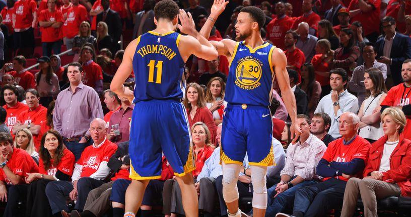 Klay Thompson i Stephen Curry (Foto: AFP)