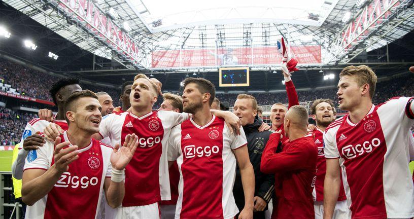 Slavlje Ajaxa (Foto: AFP)