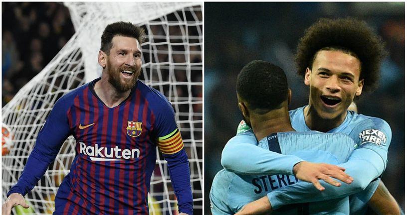 Lionel Messi, Raheem Sterling i Leroy Sane (Foto: AFP)
