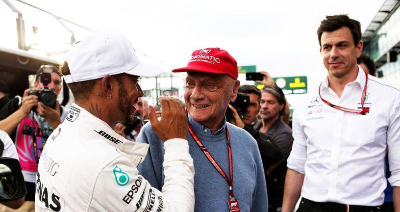 Niki Lauda u društvu Hamiltona i Wolffa (Foto: XPB/Press Association/PIXSELL)