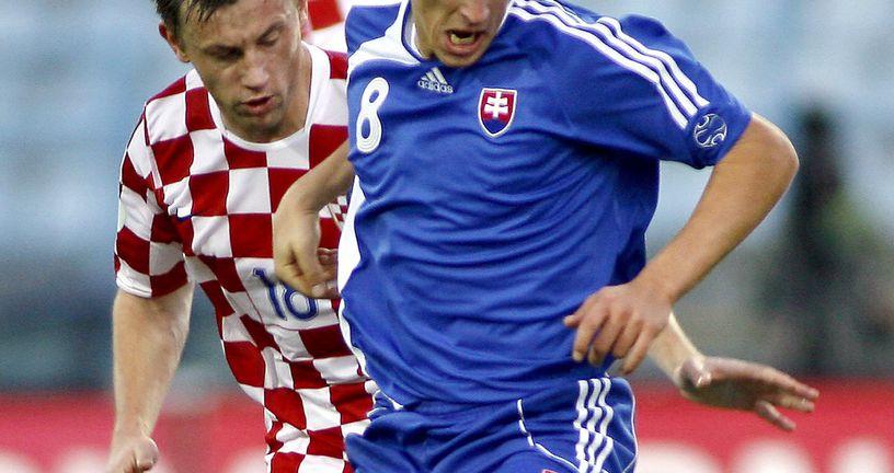 Ivica Olić Slovacima je zabio tri gola (Foto: AFP)