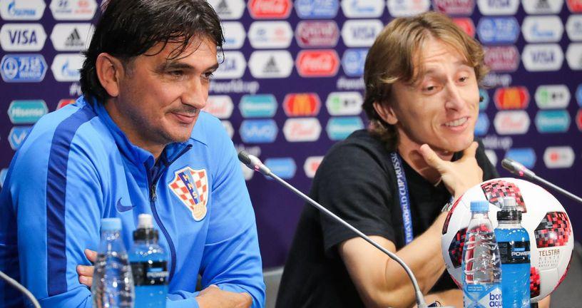 Zlatko Dalić i Luka Modrić (Foto: Christian Charisius/DPA/PIXSELL)