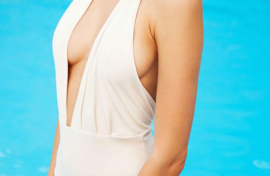 Ilustracija retro kupaćeg kostima
