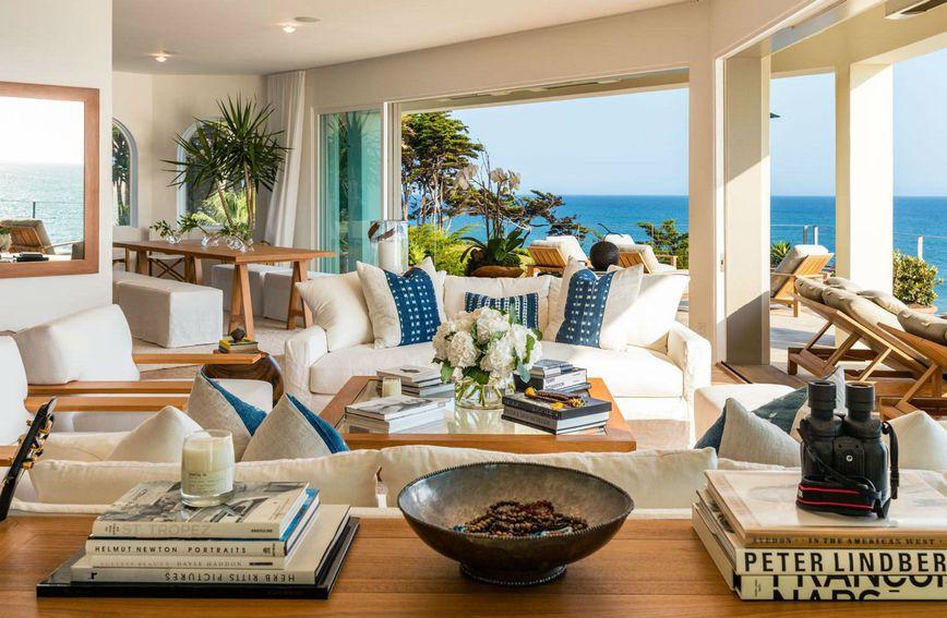 Dnevna soba Cindy Crawford u Malibuu