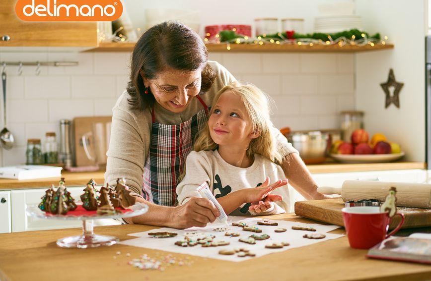 Pripremite blagdanske kolače uz Delimano obiteljski set za pripremu slastica