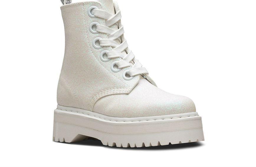 Dr. Martens Molly čizme - bijele
