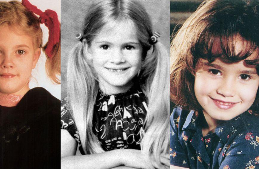 Slavne ljepotice nisu se mnogo promijenile od djetinjstva