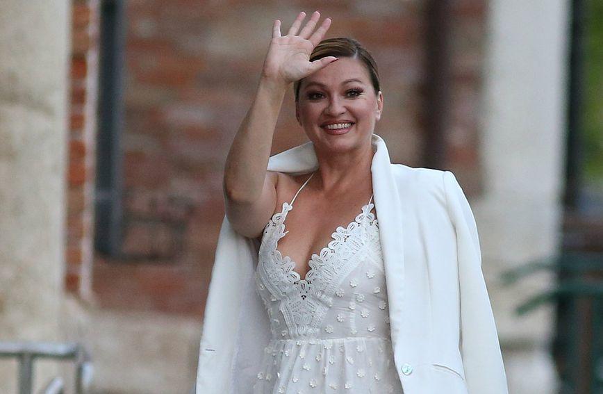 Nina Badrić na svadbenom slavlju Ane Ivanović