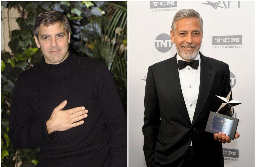 George Clooney 2003. i 2018. godine