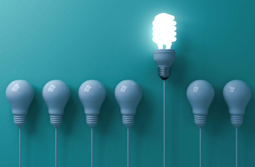 Žarulja kao simbol pameti i inteligencije