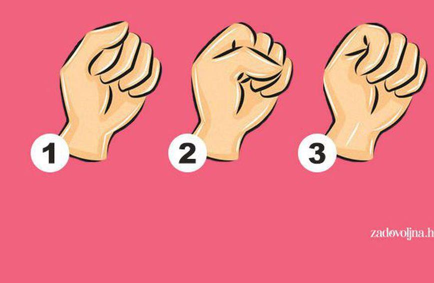 Šaka stisnuta na 3 načina