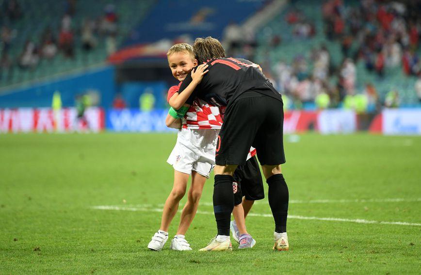 Luka Modrić sa sinom Ivanom
