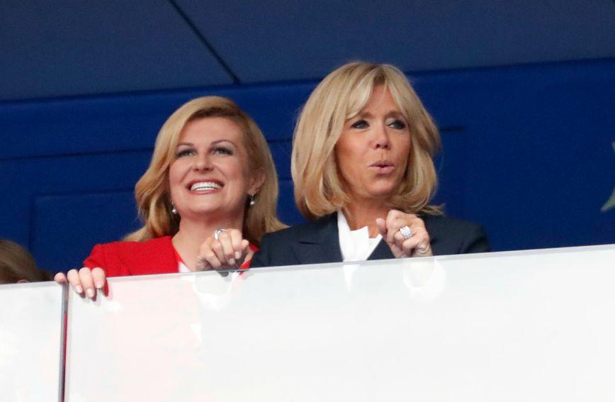 Brigitte Macron i Kolinda Grabar-Kitarović na finalu SP-a