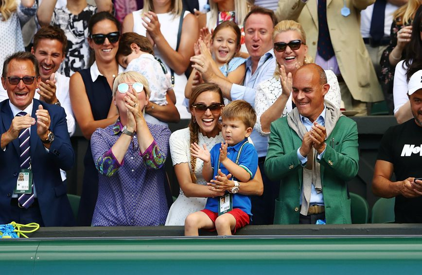Jelena i Stefan Đoković nakon finala Wimbledona