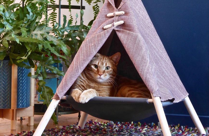 Šator za mace izgleda poput pravog malog indijanskog šatorčića