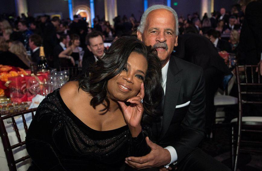 Oprah i Stedman na dodjeli Zlatnih globusa