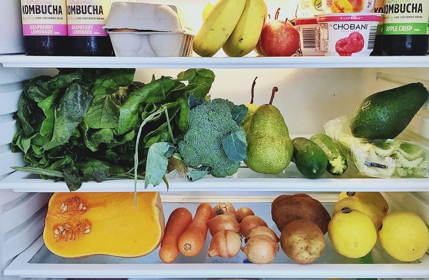 U hladnjaku Tare Swinfield nalaze se cjelovite namirnice poput jaja, voća i povrća