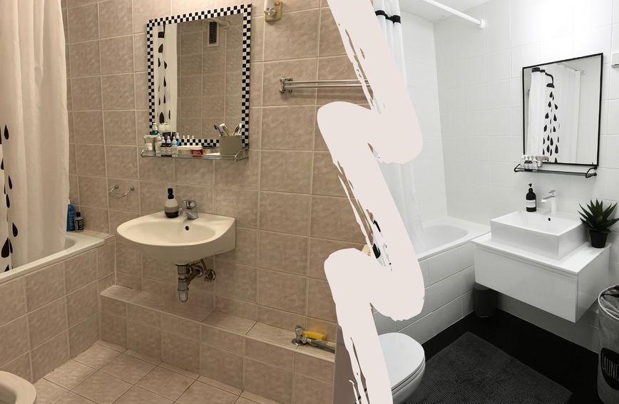 Promjena pločica i nekoliko detalja čine veliku razliku u izgledu i najmanje kupaonice