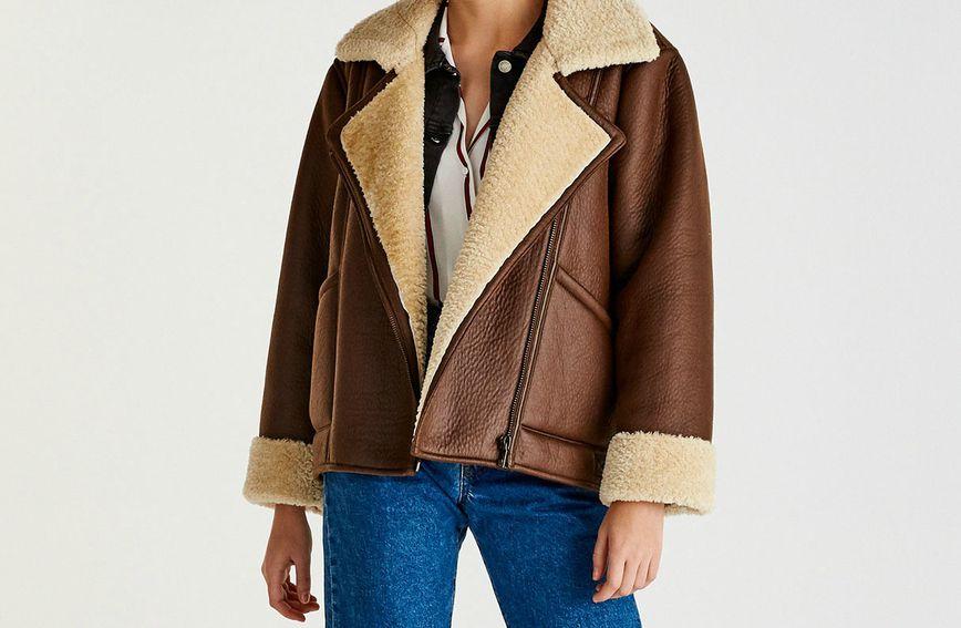 Faux-shearling jakna