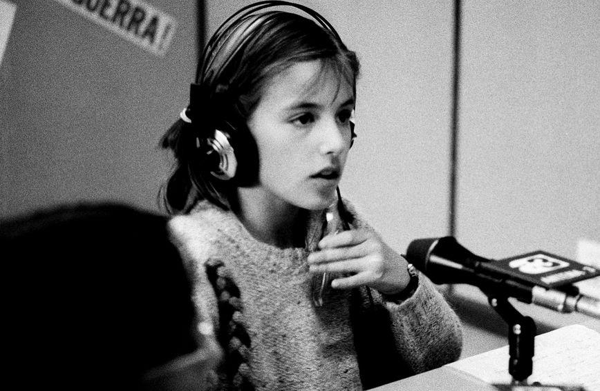 Letizia 1984. godine tijekom vođenja jedne radijske emisije za mlade