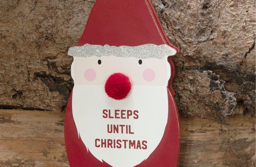 Djed Mraz koji broji dane do Božića