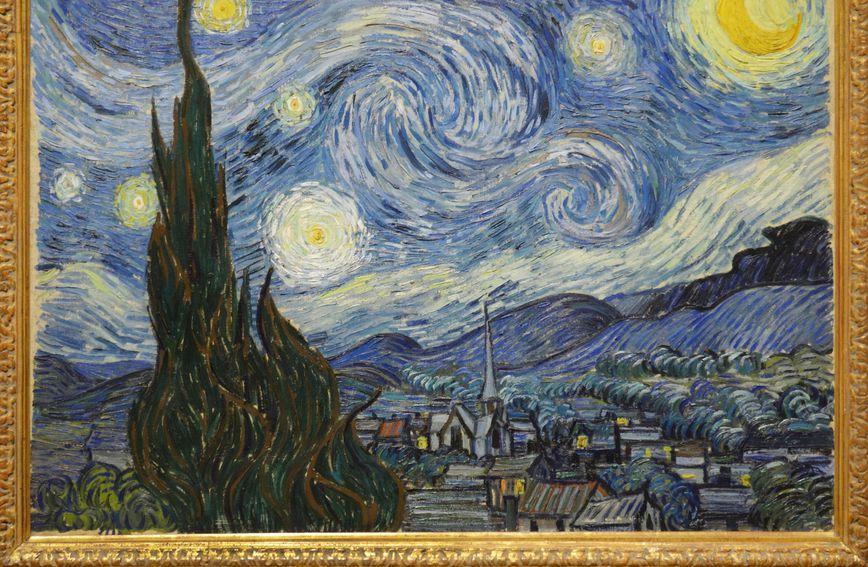 Zvjezdano nebo slikaar van gogah nalazi se u njujorškoj MOMA-i