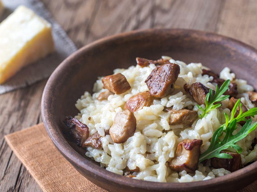 Rižoto s piletinom i suhim vrganjima