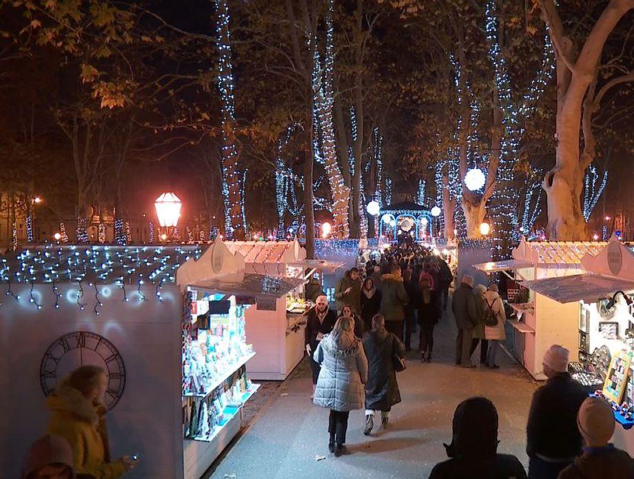 Paljenje lampica na zagrebačkom Zrinjevcu prošle godine (Foto: Dnevnik.hr)