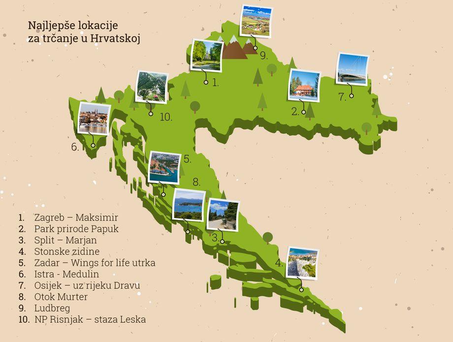 Najljepše staze za trčanje u Hrvatskoj