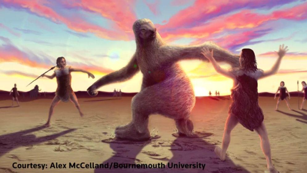 Pronađeni fosilni ostaci jedinstveni na svijetu: Otisci stopala prikazuju borbu ljudi s gigantskim ljenjivcima (Screenshot: Alex Mccelland/Bournemouth University)