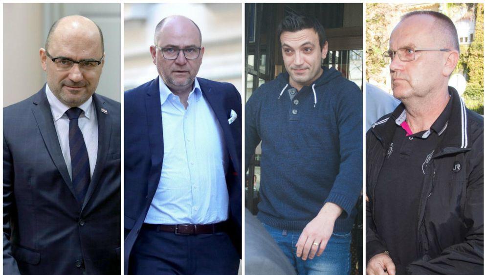 Milijan Brkić, Jozo Brkić, Franjo Varga, Blaž Curić (Foto: PIXSELL)