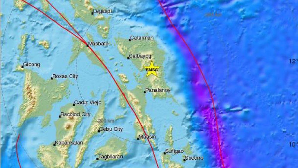 Novi potres na Filipinima (Foto: www.emsc-csem.org)