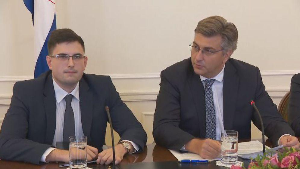 Marko Milić i Andrej Plenković (Foto: dnevnik.hr)