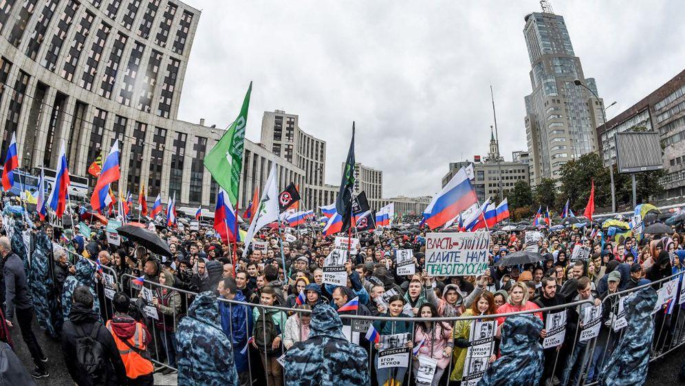 Prosvjed u Moskvi (Foto: AFP)