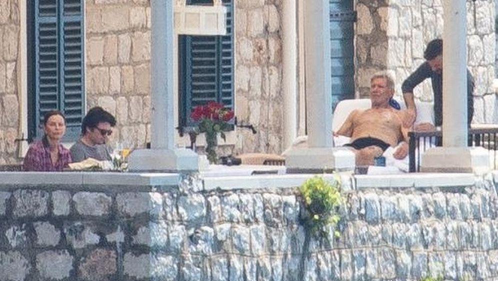 Harrison Ford, Calista Flockhart i Liam Flockhart u Dubrovniku