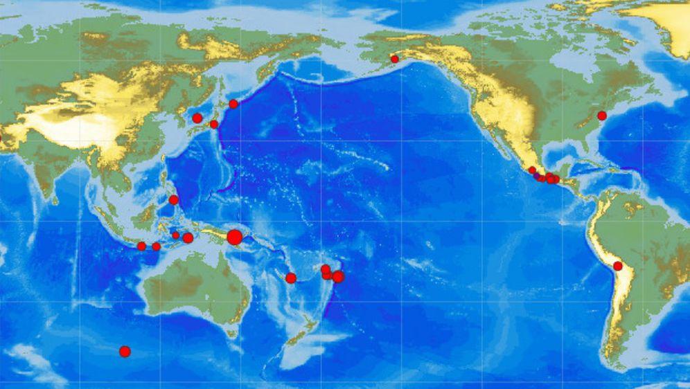 Potresi tijekom zadnja 24 sata (Foto: screenshot EMSC)