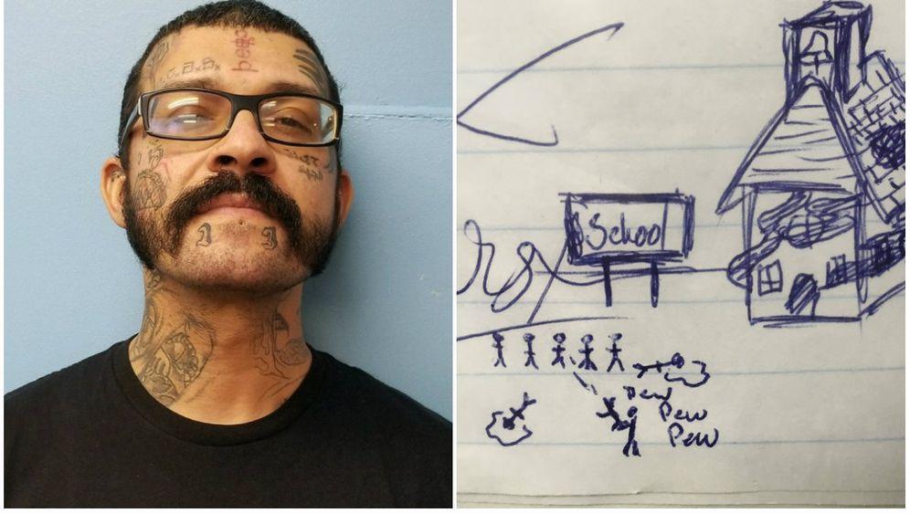 Crtež šokirao školu, odmah pozvali policiju (Foto: Gulf County Sheriff/Twitter) - 3