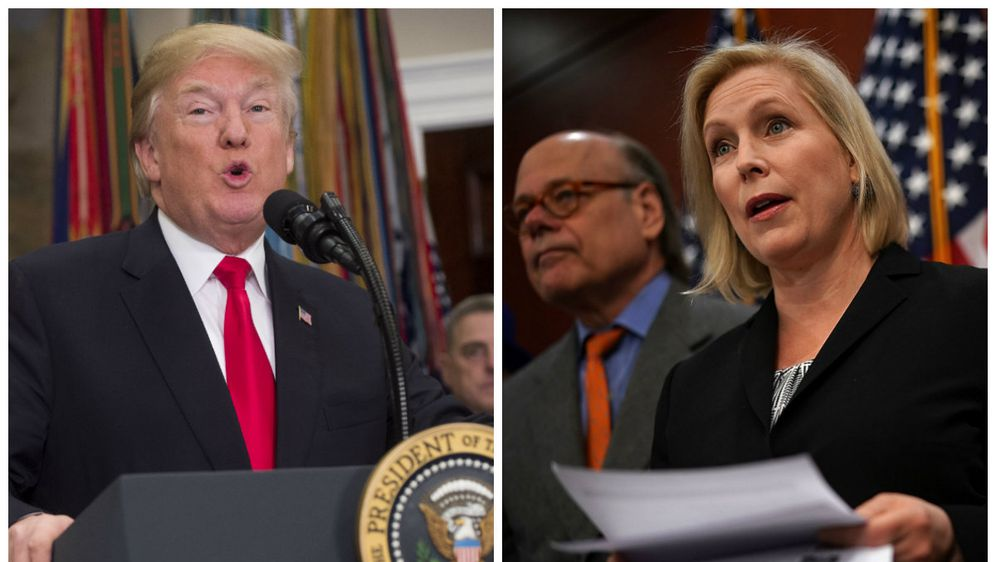 Donald Trump i Kirsten Gillibrand (Foto: AFP)