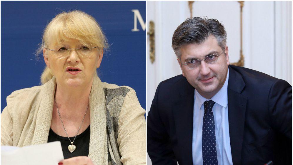 Dijana Vican i Andrej Plenković (Foto: Pixell)