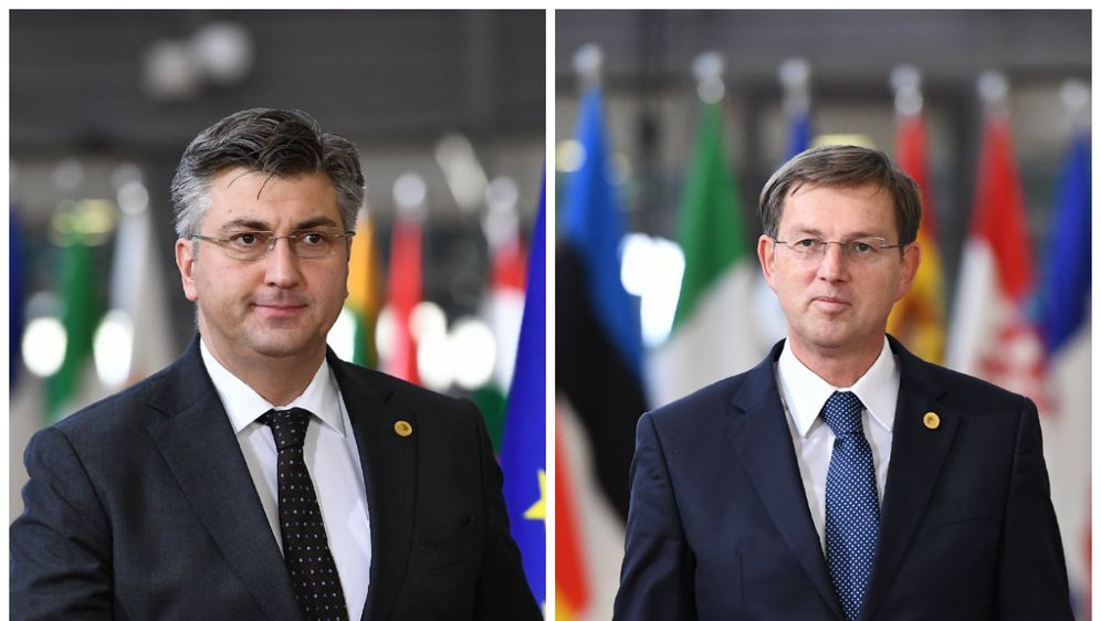 Andrej Plenković i Miro Cerar (Foto: AFP)