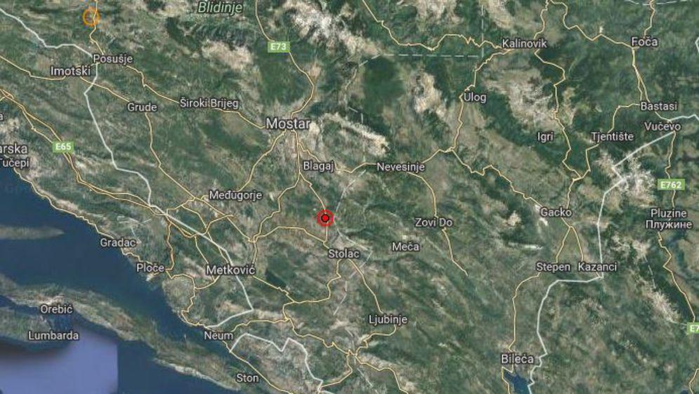 Potres kod Mostara (Foto: EMSC)
