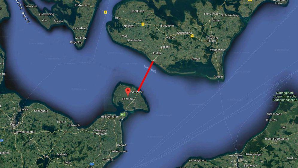 Tunel između Njemačke i Danske (Screenshot: Google Maps)