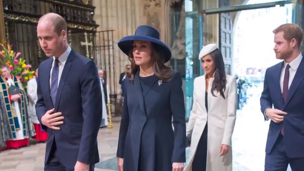 Kate Middleton i princ William, Meghan Markle i princ Harry (Foto: Screenshot)