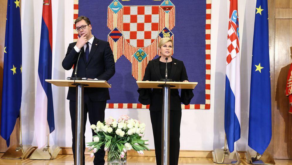 Aleksandar Vučić i Kolinda Grabar-Kitarović na Pantovčaku (Foto: Igor Soban/PIXSELL)