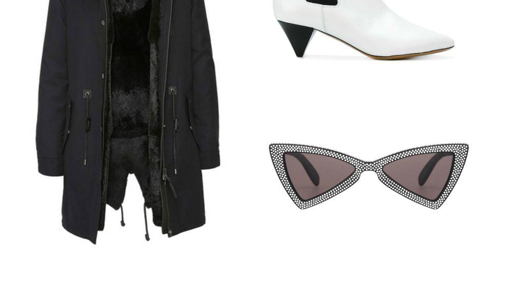 Jakna brenda Mackage, naočale Saint Laurent i gležnjače Isabel Marant