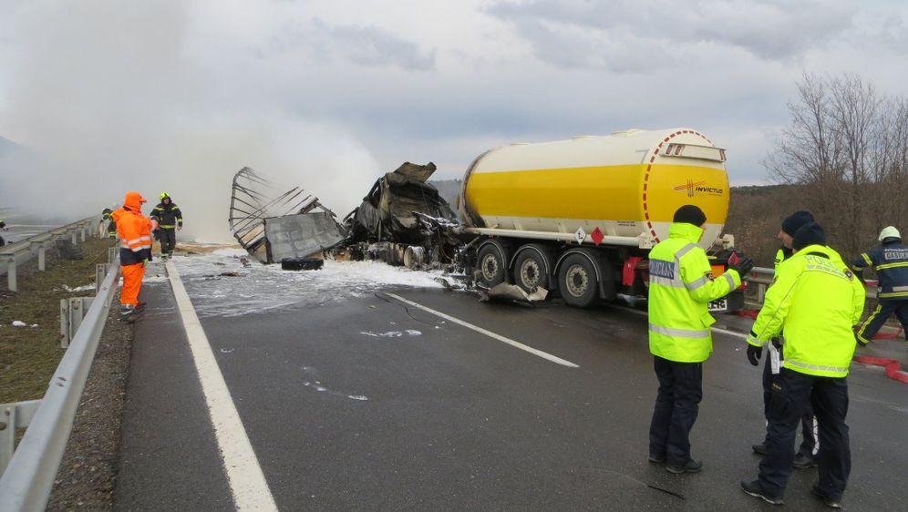 Nesreća u kojoj je poginuo hrvatski vozač (Foto: DARS/Twitter)