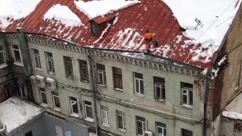 Čišćenje snijega (Foto: Screenshot/YouTube)