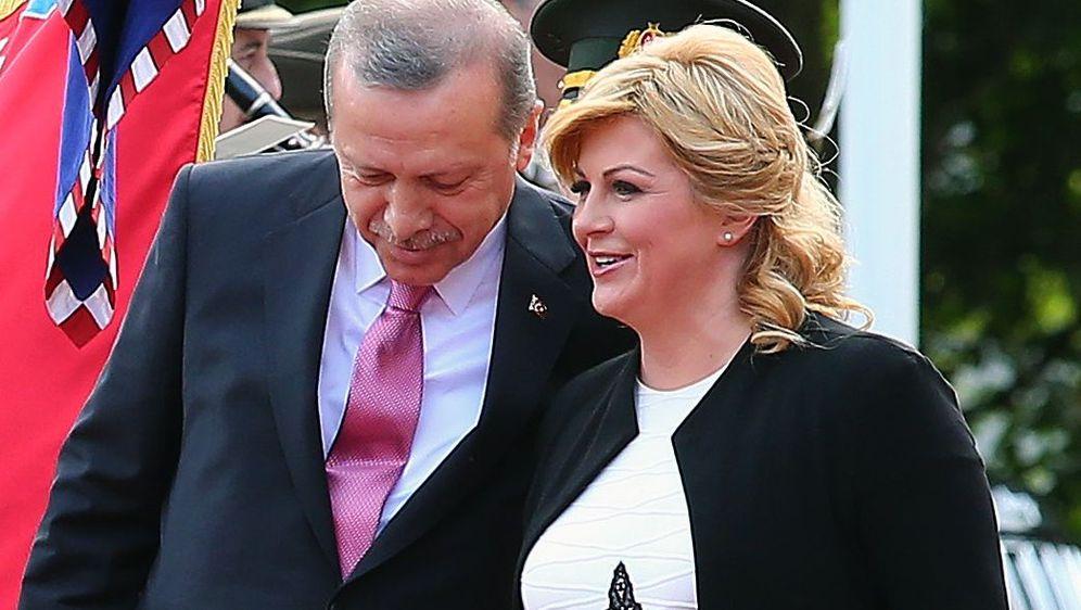 Kolinda Grabar Kitarović i Recep Tayyip Erdogan (Foto: Arhiva/Jurica Galoic/Pixsell)