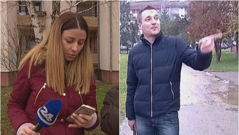Slovenski novinari u Prijedoru neposredno prije uhićenja (Screenshot: Dnevnik.hr)