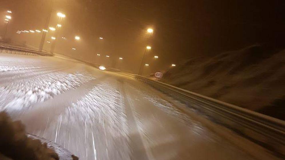 Snijeg na A1 (Foto: Ivana Ninčević-Lesandrić/Facebook)